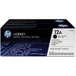 Cartucho toner p/HP preto dual pack (12A) Q2612AE HP CX 1 UN