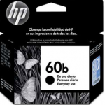 Cartucho HP 60B preto everyday 4,5ml CC636WB HP CX 1 UN