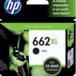 Cartucho HP 662XL preto CZ105AB HP CX 1 UN